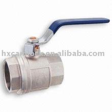 Válvula de bola de acero al carbono de 1 pieza, válvula de bola de acero inoxidable de 1 pieza