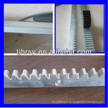Stahl (verzinkt) Zahnstangen mit Befestigungslöchern