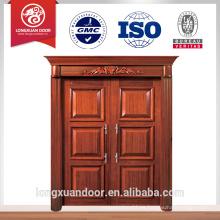 Puerta de diseño de lujo puerta doble puerta principal puerta de madera de diseño puerta doble