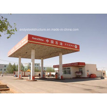 Steel Structure, Space Frame Roofing for Gas Station Canopy