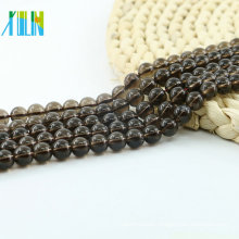L-0259A Factory price Stylish Smoky Quartz Synthetic(A) Natural Gemstone Beads Strand Bulk Supplies