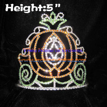 5inch Halloween Pumpkin Rhinestone Crowns
