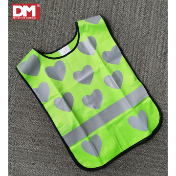 Green Children's Saftey Vest with Custom Reflective Pattern