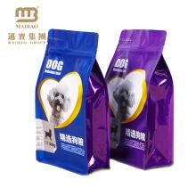 FDA класса высокий барьер алюминиевой фольги gusset стороны квад Загерметизированный Подгонянный мешок упаковки еды любимчика собаки