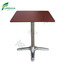 Customized competitive compact square cafe table top