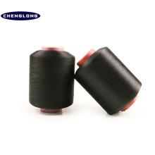 100% filé polyester fil fabricant en chine spandex polyester filé teints