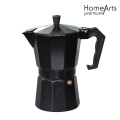Black Aluminium Stove Top Coffee Maker