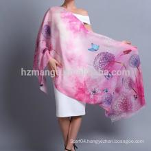 Wholesale digital printed shawl made of 100% wool