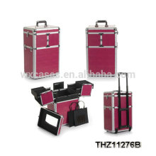 New design professional makeup trolley case with multi-colors selection