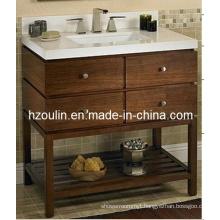 Antique Solid Wood Bathroom Vanity (BA-1106)