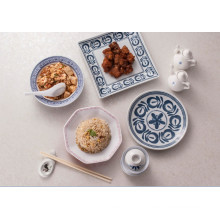 """Blue and White Series Melamine 8"""" Round Plate (DC13807-08)"""