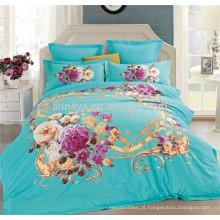 China casa têxtil 3D conjunto de capa de cama e consolador set fábrica