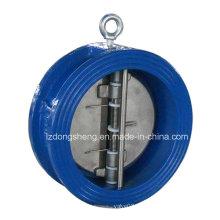 Двойной дисковый обратный клапан типа вафли