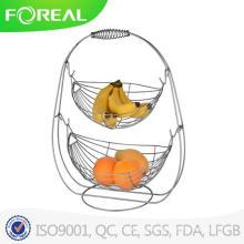 Best Selling 2 Tier Metal Wire Swing Fruit Basket