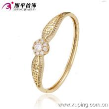 Brazalete cúbico elegante del zirconia del color del oro de la manera 14k