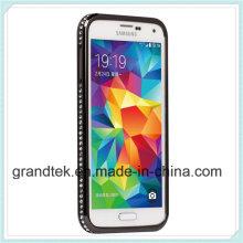para Samsung S5 I9600 parachoques caso cubierta marco caso alta calidad de la piel
