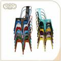 Silla de madera industrial colorida al por mayor del metal de Seat del diseño simple del vintage