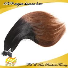 Estilo de cabelo de moda Ombre U ponta cabelo extensão