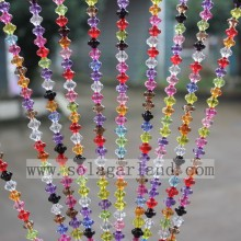 Wholesale Crystal Beaded Door Curtain For Home Decor, High Quality Hanging Door Beads Curtain