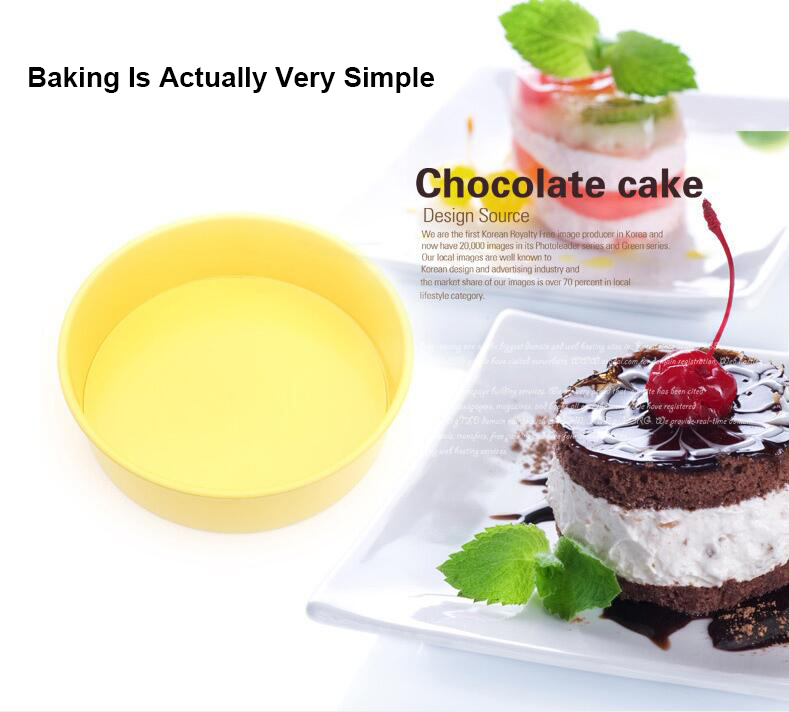 10' Carbon Steel Non-Stick Round Cake Pan With Removable Bottom -Yellow (6)
