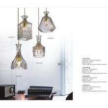 Luxury Decorative Glass Metal Pendant Lamp (G-051S-D)