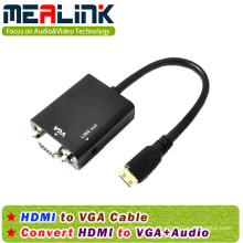 HDMI to VGA+3.5mm Audio Cable