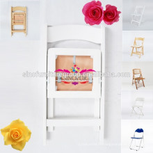 Meubles de mariage Chaise pliante acrylique en résine blanche