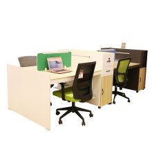 4 Person Open Wooden Modular Straight Workstation Office Partition (H70-0264)