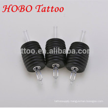Professional 38mm Black Disposable Tattoo Grip with Clear Tips