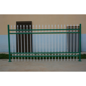 No Dig Powder-Coated and Galvanized Ornamental Steel Fence