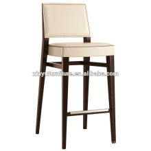 white vinyl soild wood bar chair XYH1071