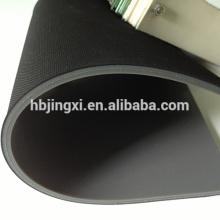 Gummi-Blatt-Rolle der hohen Reibung gerippt mit Stoff-Einfügung