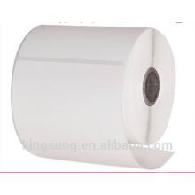 custom blank self adhesive paper label sticker roll