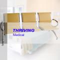 Chaise d'attente d'hôpital en acier inoxydable à bas prix avec coussins (THR-YD1033)