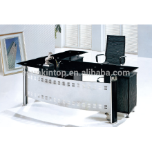 2015 new design glass office table with L-shape office table
