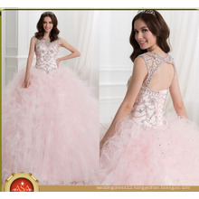 ASQ04 Princess Pink Ruffles Crystal Shiny Gowns vestidos de quinceanera