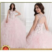 ASQ04 Princess Pink Ruffles Crystal Shiny Gowns vestidos de quinceanera