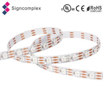 Eingebauter IC Digital 5050 DC 5V LED-Streifen, hoher Helligkeits-LED-Streifen RGB Signcomplex