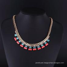 Fashion America Handmade Crystal Gold Necklace Set