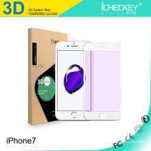 Venta caliente! Premium Anti-purple ray 0.26mm Cobertura completa Soft Edge Tempered Glass Screen Protector para Iphone 7