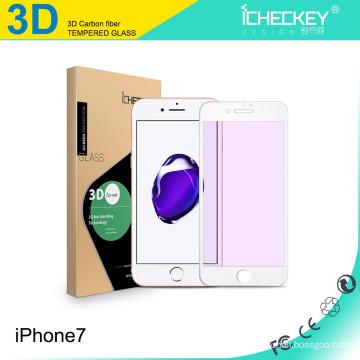 Para el protector de pantalla de vidrio templado Iphone7, vidrio templado de cubierta completa curvado 3D