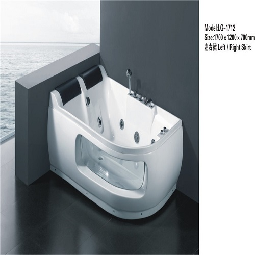 bath tub freestanding whirlpool massage acrylic bathtub with LED light