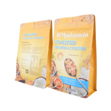Green Food Coffee Tea Snack Frozen Food 100% Nature Compostable Packaging Bag Biodegradable Brown Paper Bag with Zipper