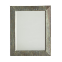 Antique Green Finished Rectangle Metal Framed Industrial Wall Mirror