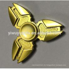 El juguete divertido de la venta caliente alivia la tensión El metal fuerte del oro del ejército Fidget Spinner de la mano