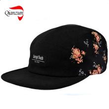 Черная цветочная сторона Пятипанель Hat Cap Cap Supreme Quiet Life Huf (QZ-LW-010)