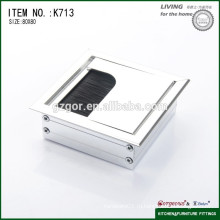 Офисный квадратный квадратный ящик, крышка кабельного отверстия / концевая заглушка