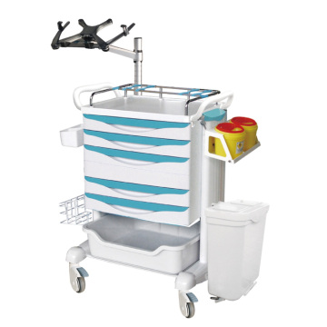Mobile Nurse Workstation mit Laptophalter