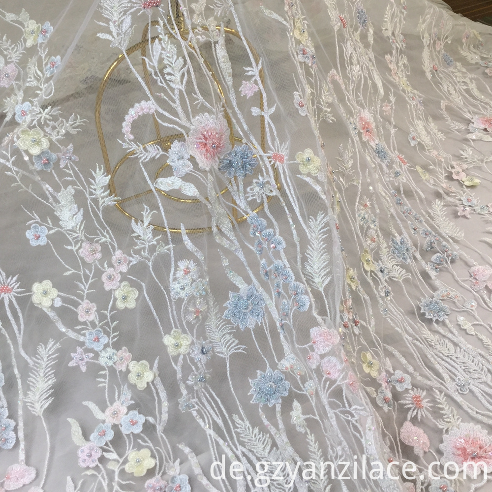 3d Lace Fabric Beads Bridal