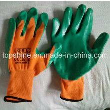 Профессиональные промышленные полиэфирные латексные защитные рабочие защитные перчатки